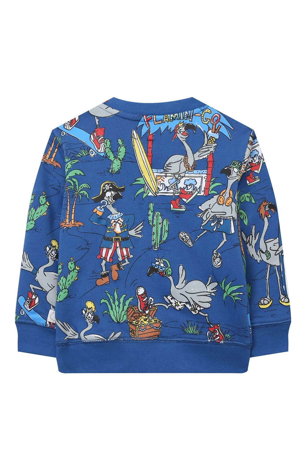 Детский комплект из свитшота и брюк STELLA MCCARTNEY синего цвета, арт. 602848/SQJ66 | Фото 3