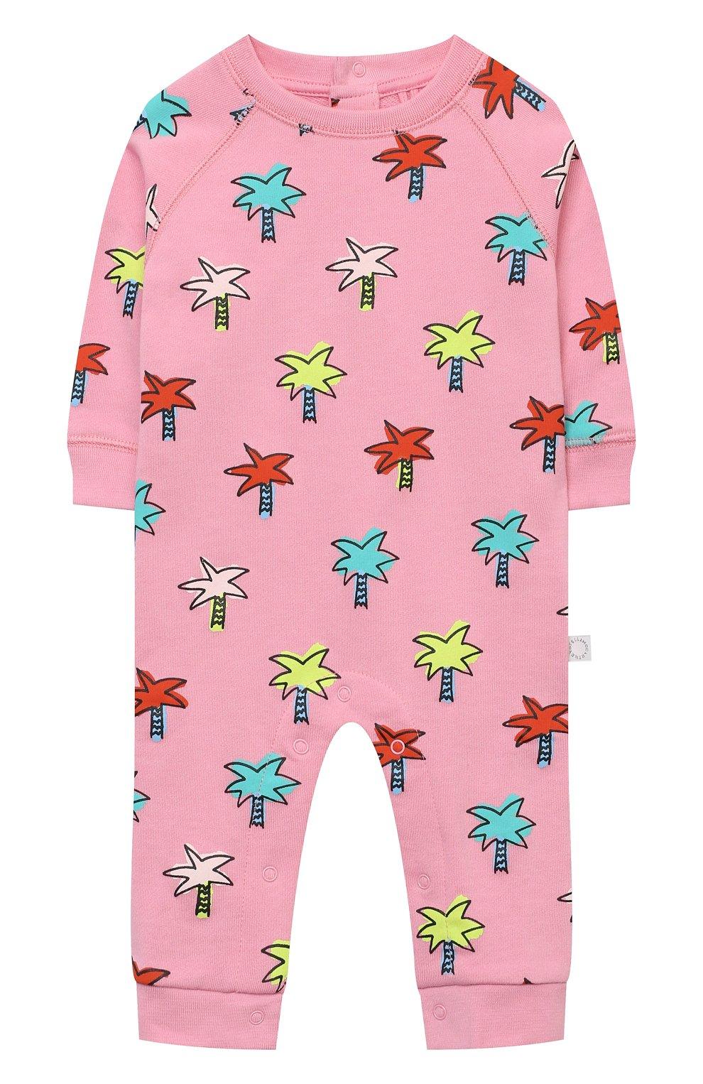 Детский хлопковый комбинезон STELLA MCCARTNEY розового цвета, арт. 602584/SQJE4 | Фото 1