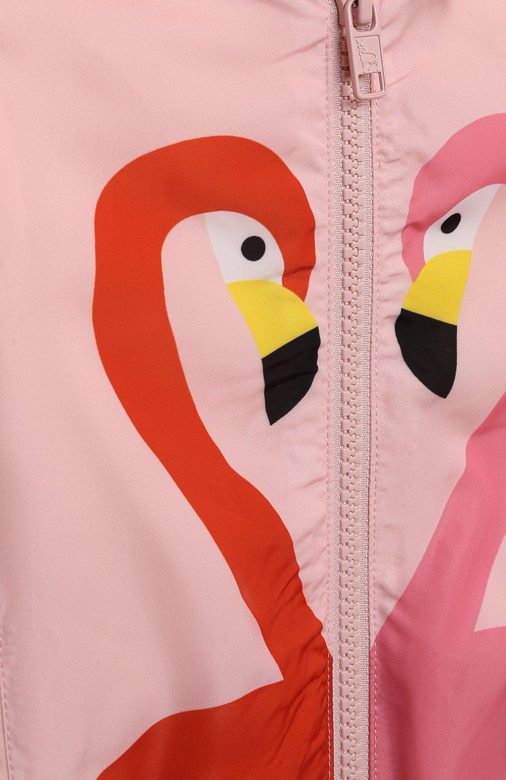 Детского ветровка STELLA MCCARTNEY розового цвета, арт. 602556/SQKD7/9M | Фото 3