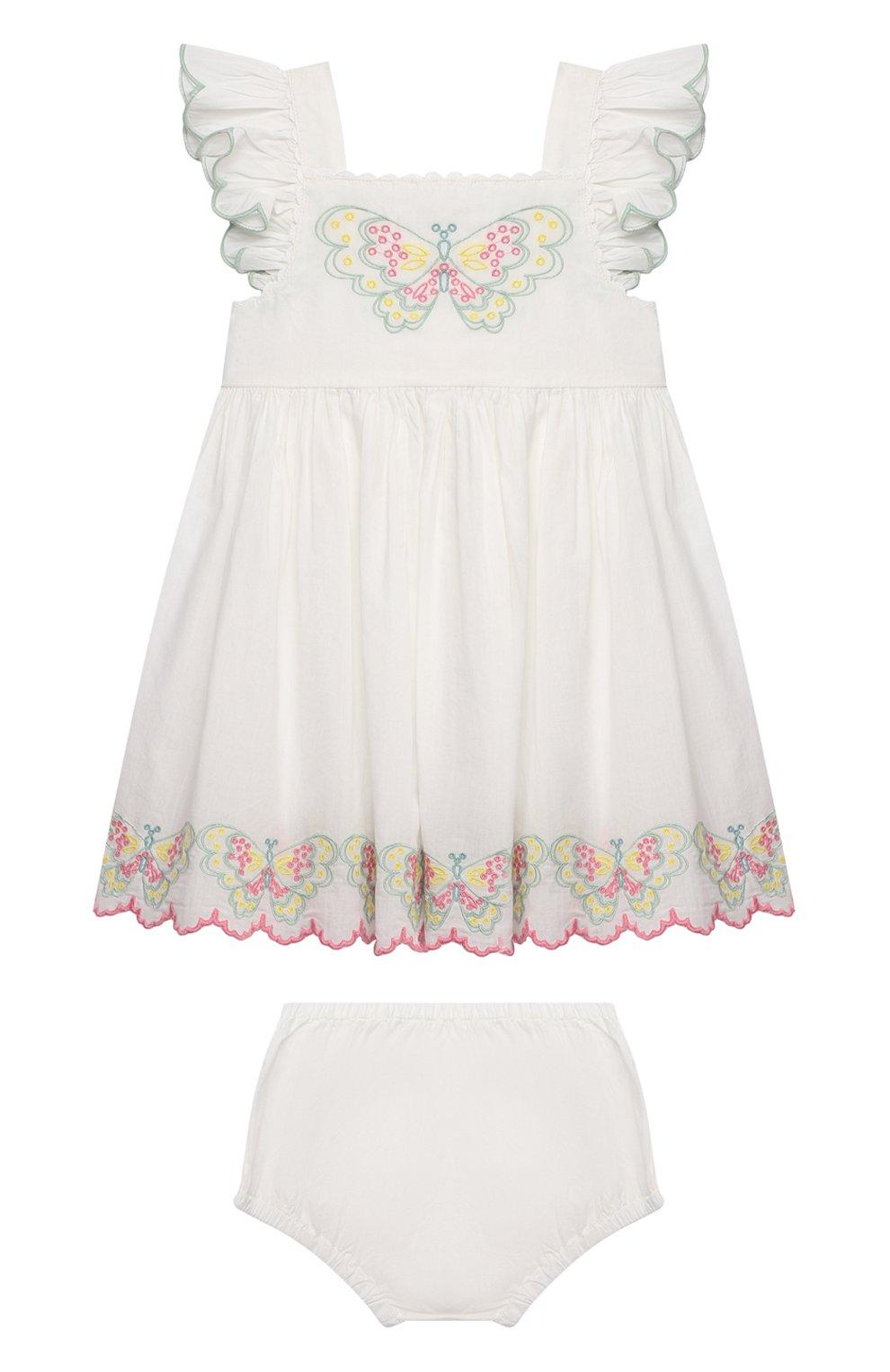 Женский комплект из платья и шорт STELLA MCCARTNEY белого цвета, арт. 602553/SQK81 | Фото 1