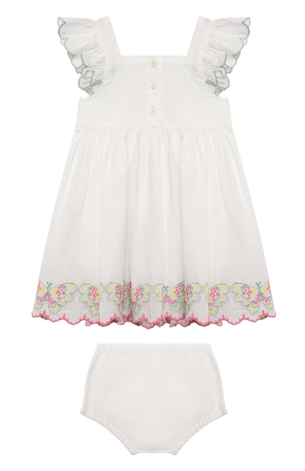 Женский комплект из платья и шорт STELLA MCCARTNEY белого цвета, арт. 602553/SQK81 | Фото 2