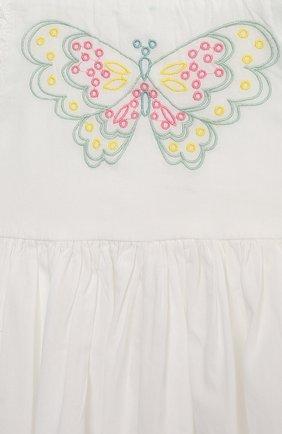 Женский комплект из платья и шорт STELLA MCCARTNEY белого цвета, арт. 602553/SQK81 | Фото 3