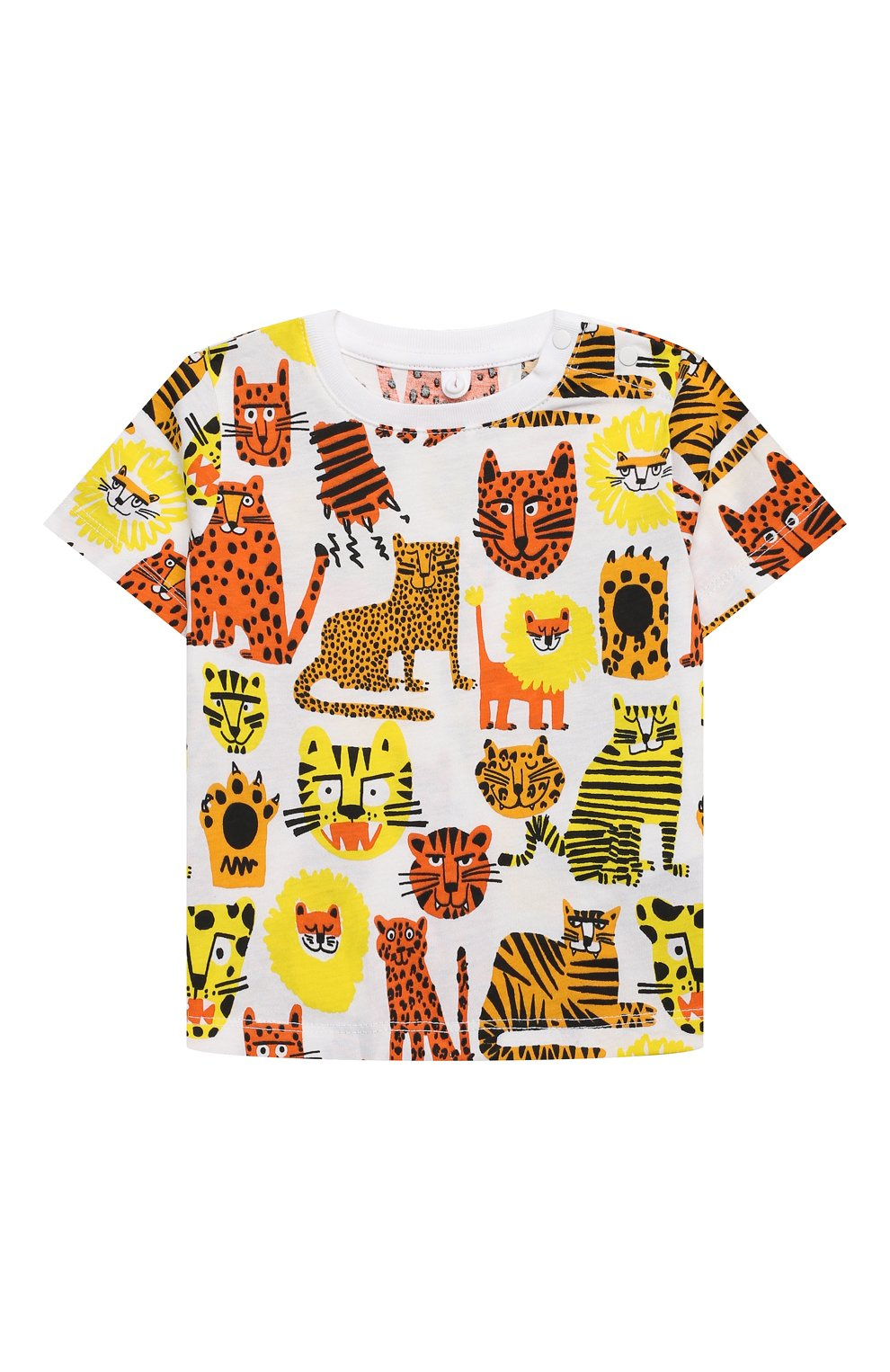 Детский хлопковая футболка STELLA MCCARTNEY разноцветного цвета, арт. 602270/SQJ16   Фото 1