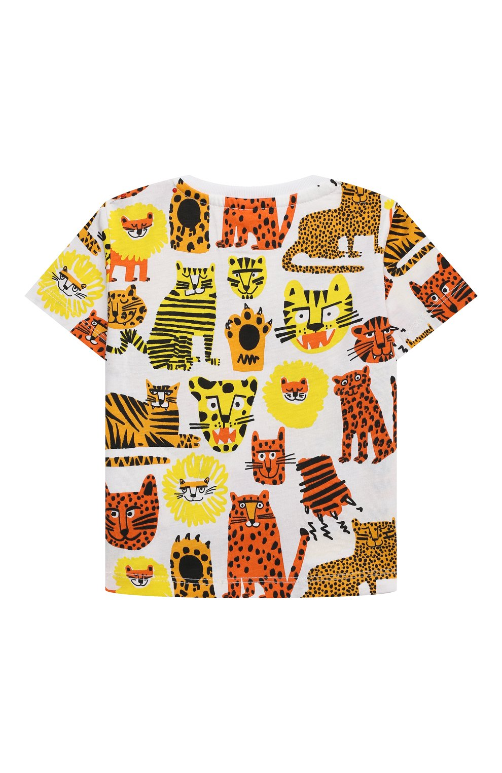 Детский хлопковая футболка STELLA MCCARTNEY разноцветного цвета, арт. 602270/SQJ16   Фото 2