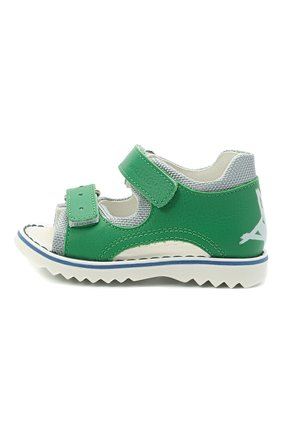 Детские кожаные сандалии WALKEY зеленого цвета, арт. Y1B2-41299-0129 | Фото 2
