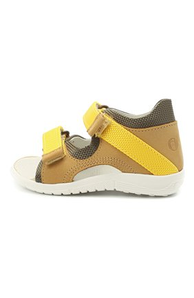 Детские кожаные сандалии WALKEY желтого цвета, арт. Y1B2-41305-0981 | Фото 2