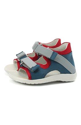 Детские кожаные сандалии WALKEY синего цвета, арт. Y1B2-41305-0981 | Фото 1