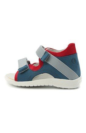 Детские кожаные сандалии WALKEY синего цвета, арт. Y1B2-41305-0981 | Фото 2