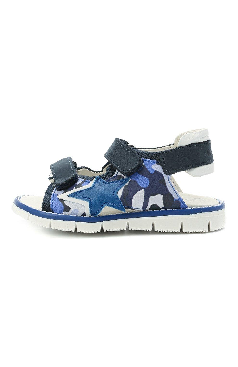 Детские сандалии WALKEY синего цвета, арт. Y1B2-41313-1209/19-24 | Фото 2 (Материал внешний: Экокожа, Текстиль; Материал внутренний: Натуральная кожа)