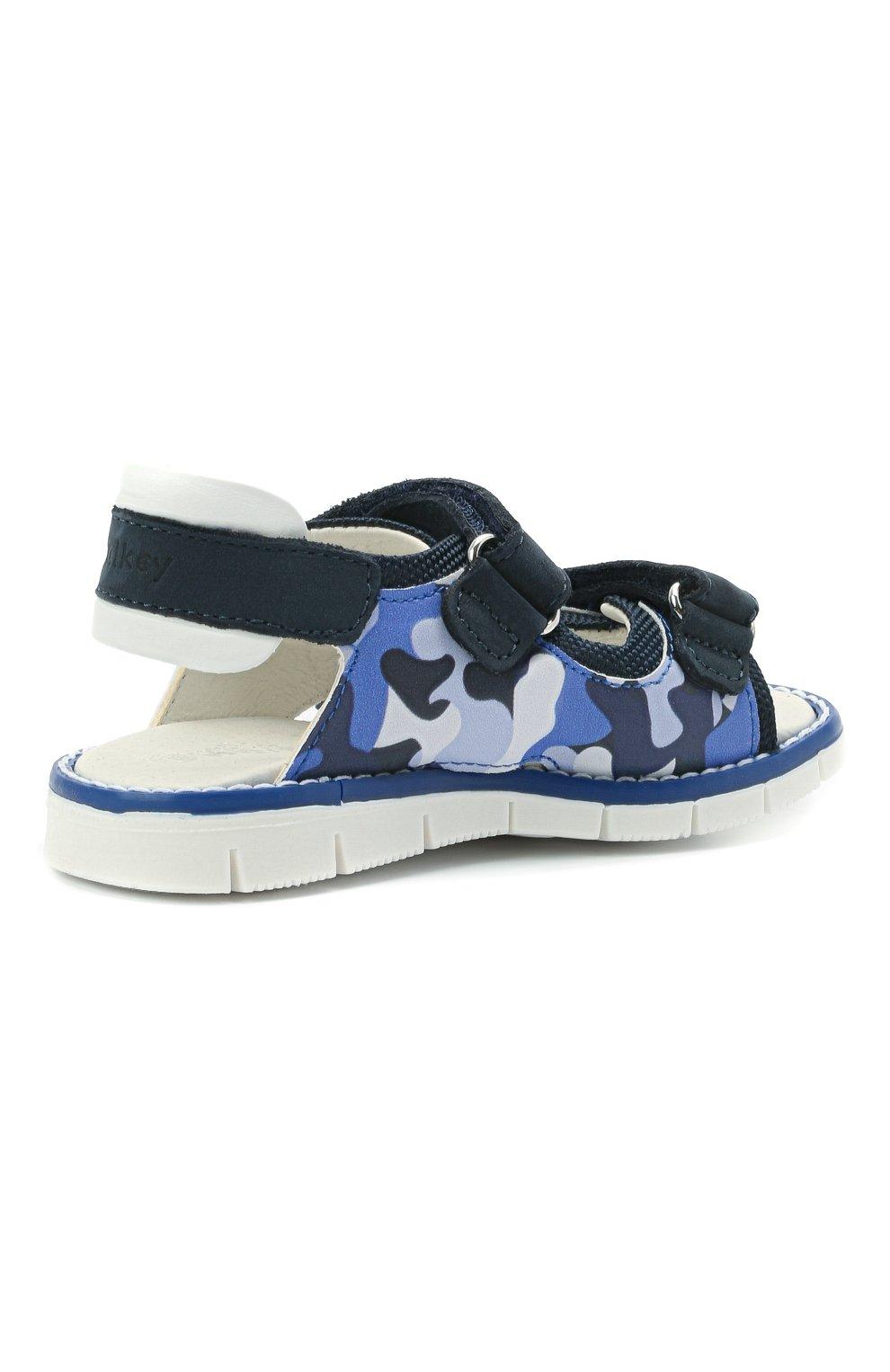 Детские сандалии WALKEY синего цвета, арт. Y1B2-41313-1209/19-24 | Фото 3 (Материал внешний: Экокожа, Текстиль; Материал внутренний: Натуральная кожа)