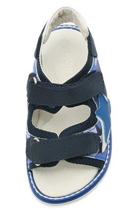 Детские сандалии WALKEY синего цвета, арт. Y1B2-41313-1209/19-24 | Фото 4 (Материал внешний: Экокожа, Текстиль; Материал внутренний: Натуральная кожа)