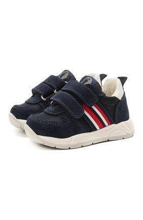Детские замшевые кроссовки WALKEY темно-синего цвета, арт. Y1B4-41291-0660/19-24 | Фото 1