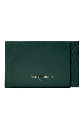 Мужской футляр для кредитных карт heritage NATIVE UNION темно-зеленого цвета, арт. CRDHLD-HRTG-DRGRN | Фото 1
