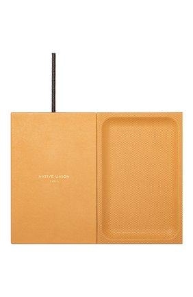Беспроводное зарядное устройство valet heritage NATIVE UNION желтого цвета, арт. VALET-HRTG-YLW | Фото 1