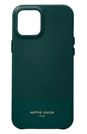 Чехол для iphone 12 mini clic heritage NATIVE UNION темно-зеленого цвета, арт. CHRTG-DRGRN-NP20S | Фото 1