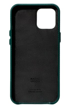 Чехол для iphone 12 mini clic heritage NATIVE UNION темно-зеленого цвета, арт. CHRTG-DRGRN-NP20S | Фото 2