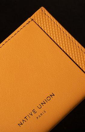 Мужской футляр для кредитных карт heritage NATIVE UNION желтого цвета, арт. CRDHLD-HRTG-YLW | Фото 3