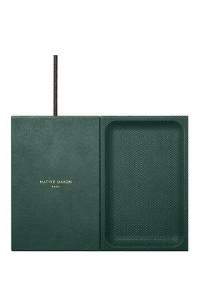 Беспроводное зарядное устройство valet heritage NATIVE UNION темно-зеленого цвета, арт. VALET-HRTG-DRGRN | Фото 1