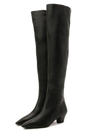 Женские кожаные ботфорты AQUAZZURA черного цвета, арт. GAIMIDB1-NAP-000 | Фото 1