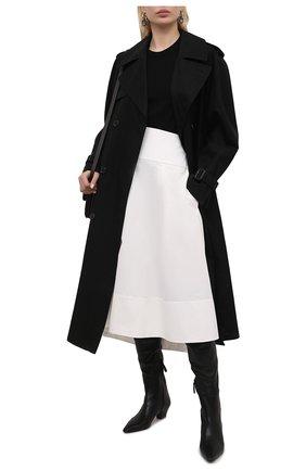Женские кожаные ботфорты AQUAZZURA черного цвета, арт. GAIMIDB1-NAP-000 | Фото 2