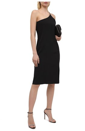 Женские кожаные босоножки AQUAZZURA черного цвета, арт. MCSHIGS0-NSU-000 | Фото 2
