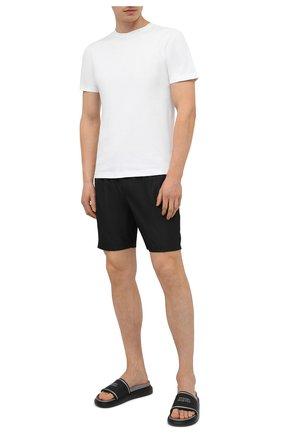 Мужские шлепанцы ALEXANDER MCQUEEN черного цвета, арт. 627188/W4N42 | Фото 2 (Материал внутренний: Натуральная кожа; Материал внешний: Резина)
