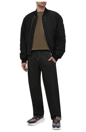 Мужские комбинированные кроссовки ALEXANDER MCQUEEN разноцветного цвета, арт. 645883/WHRHA | Фото 2 (Материал внутренний: Натуральная кожа, Текстиль; Подошва: Массивная; Стили: Гранж)