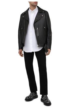 Мужские кожаные челси ALEXANDER MCQUEEN черного цвета, арт. 647178/WHFLB | Фото 2