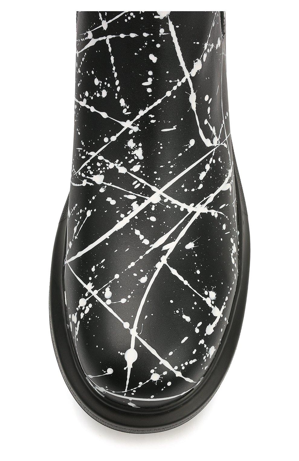 Мужские кожаные челси ALEXANDER MCQUEEN черного цвета, арт. 647178/WHFLB | Фото 5