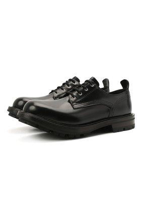 Мужские кожаные дерби ALEXANDER MCQUEEN черного цвета, арт. 652663/WHZ80 | Фото 1