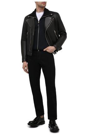 Мужские кожаные дерби ALEXANDER MCQUEEN черного цвета, арт. 652663/WHZ80 | Фото 2