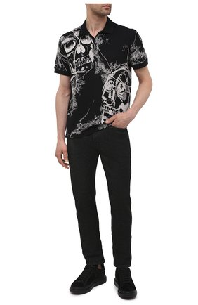 Мужские замшевые кеды ALEXANDER MCQUEEN черного цвета, арт. 645868/WHFBR | Фото 2 (Материал внутренний: Натуральная кожа; Подошва: Массивная; Материал внешний: Замша)