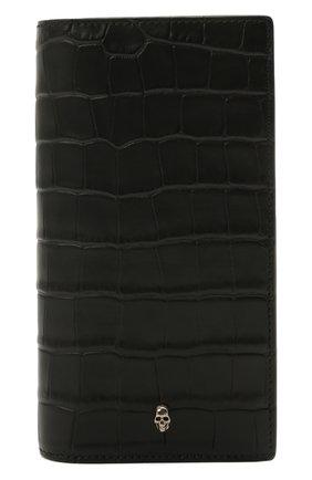 Мужской кожаное портмоне ALEXANDER MCQUEEN черного цвета, арт. 649200/DZTIY | Фото 1
