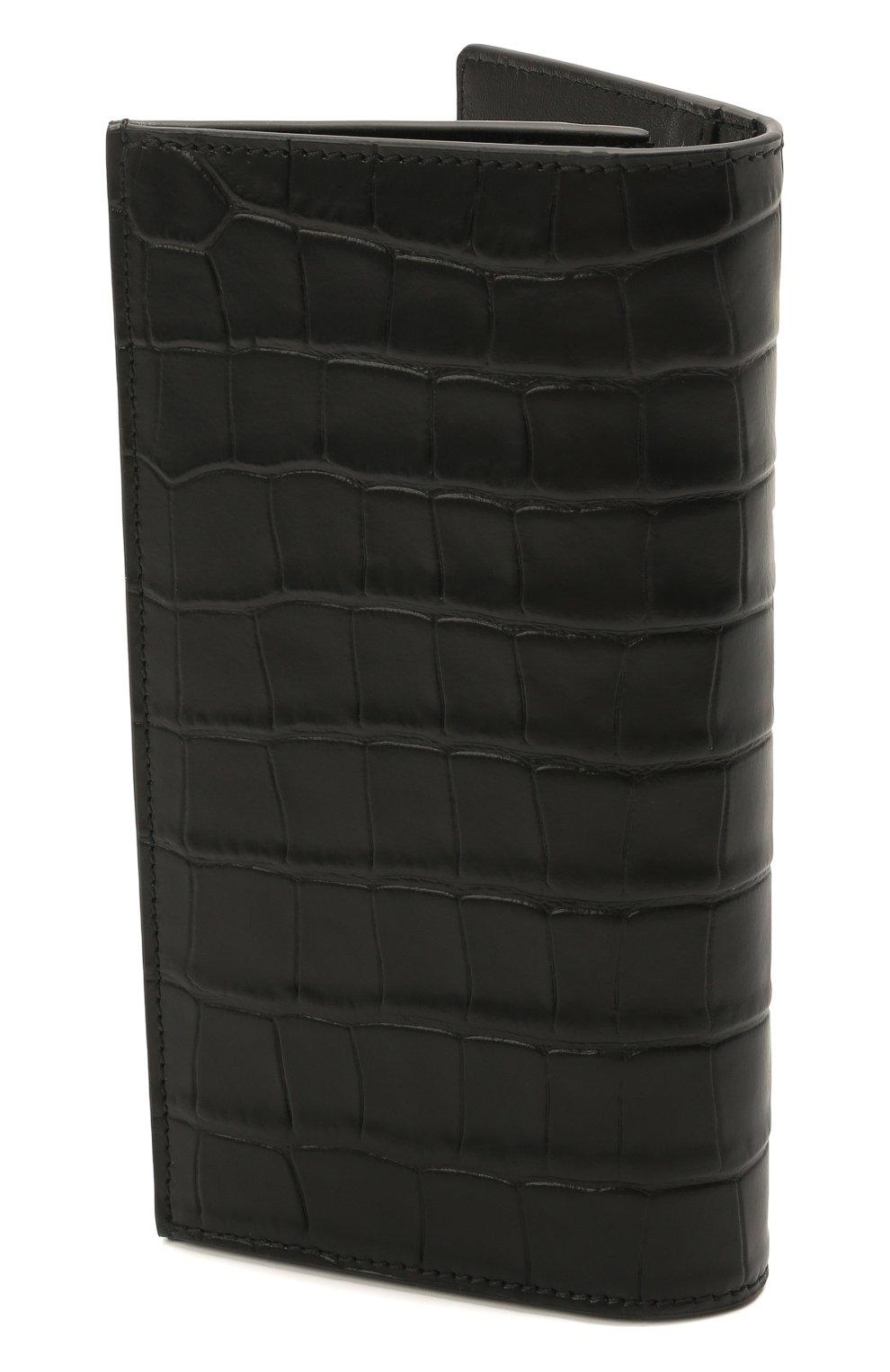Мужской кожаное портмоне ALEXANDER MCQUEEN черного цвета, арт. 649200/DZTIY | Фото 2