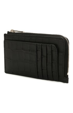 Мужской кожаный кошелек для монет ALEXANDER MCQUEEN черного цвета, арт. 649217/DZTIY | Фото 2