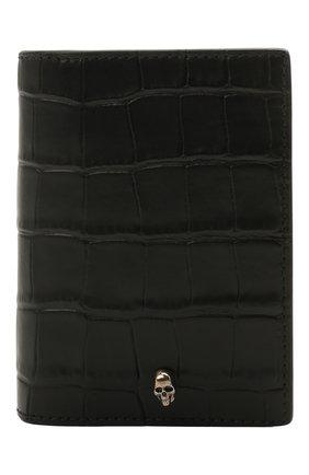 Мужской кожаный футляр для кредитных карт ALEXANDER MCQUEEN черного цвета, арт. 649222/DZTIY | Фото 1