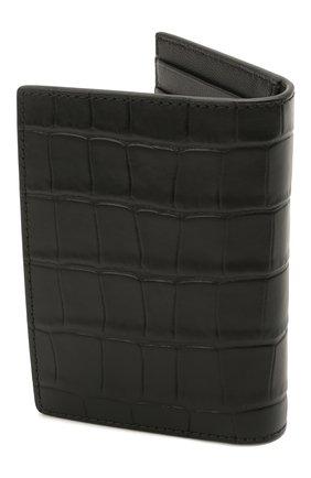 Мужской кожаный футляр для кредитных карт ALEXANDER MCQUEEN черного цвета, арт. 649222/DZTIY | Фото 2