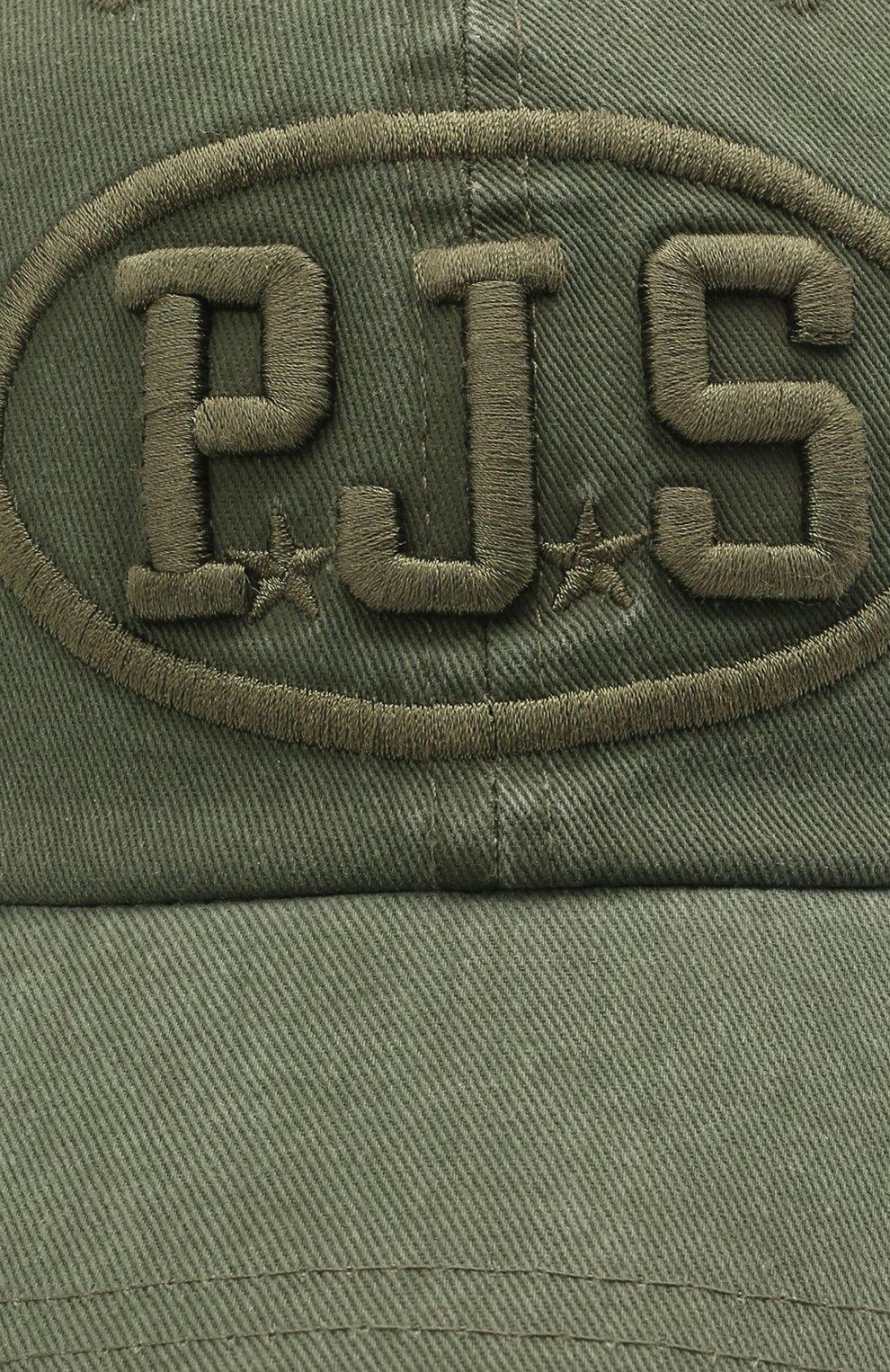 Мужской хлопковая бейсболка PARAJUMPERS хаки цвета, арт. HA01/PJS CAP | Фото 3