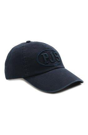 Мужской хлопковая бейсболка PARAJUMPERS синего цвета, арт. HA01/PJS CAP   Фото 1