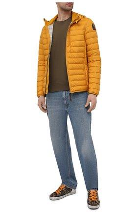 Мужская пуховая куртка last minute PARAJUMPERS желтого цвета, арт. SL02/LAST MINUTE | Фото 2