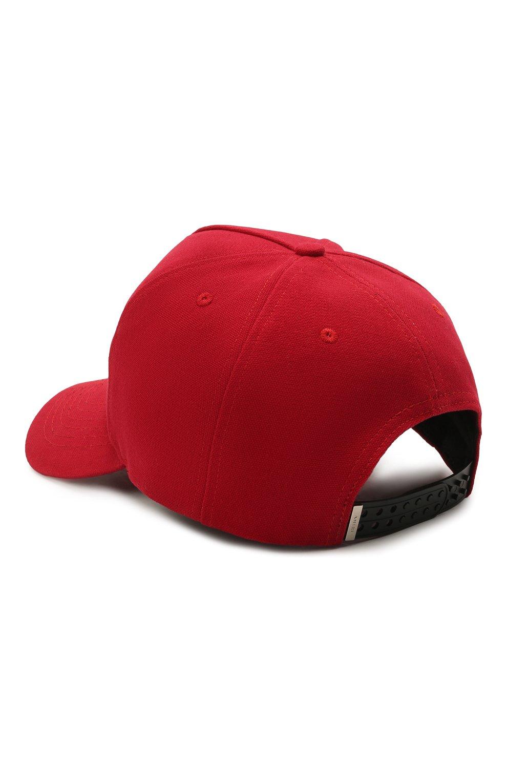 Мужской хлопковая бейсболка AMIRI красного цвета, арт. MAH004-610   Фото 2