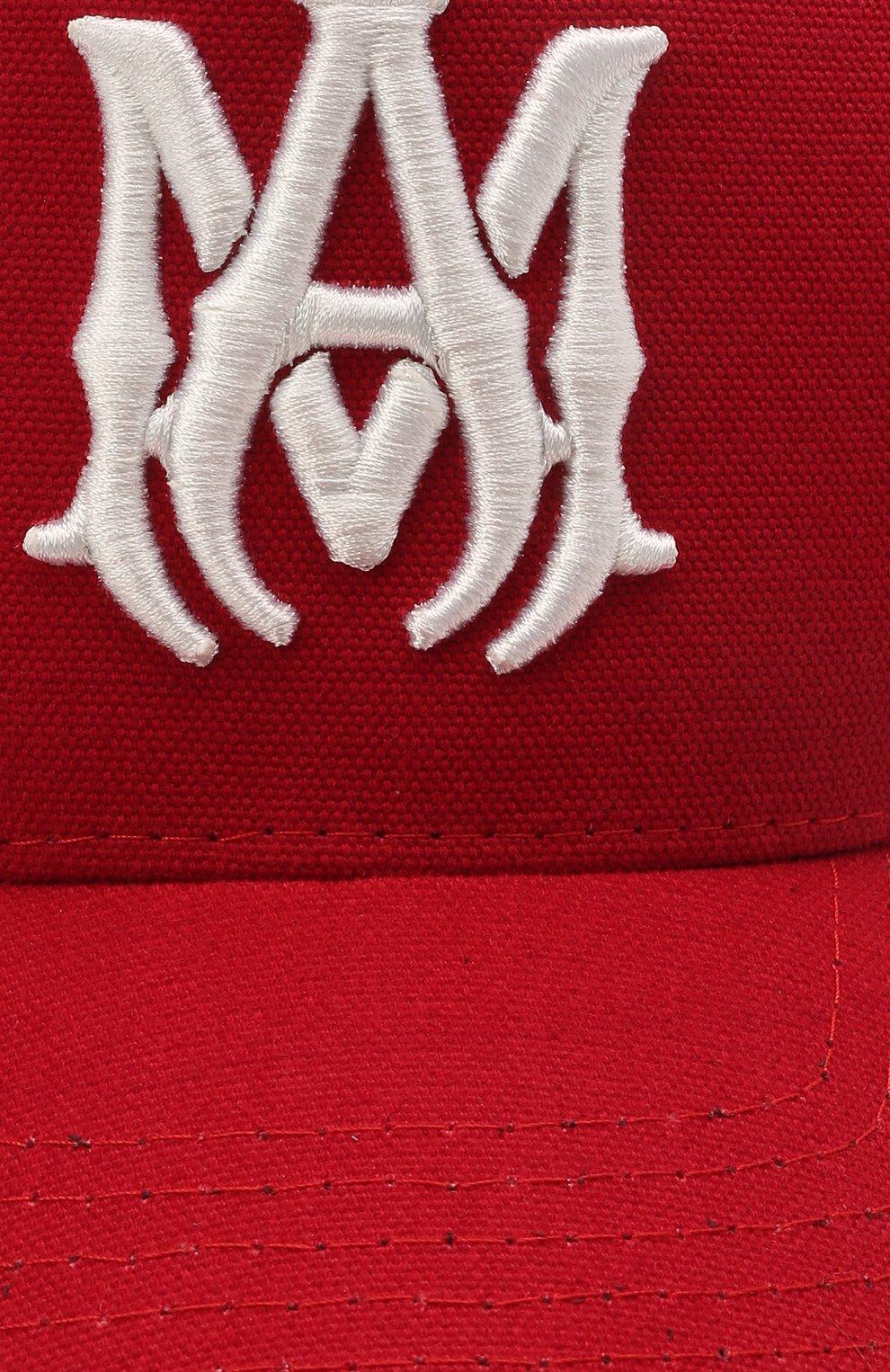 Мужской хлопковая бейсболка AMIRI красного цвета, арт. MAH004-610 | Фото 3