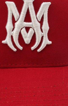 Мужской хлопковая бейсболка AMIRI красного цвета, арт. MAH004-610   Фото 3