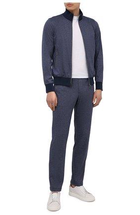Мужской хлопковый спортивный костюм CAPOBIANCO темно-синего цвета, арт. 10MT03.FU00. | Фото 1
