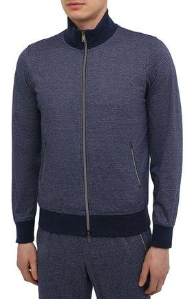Мужской хлопковый спортивный костюм CAPOBIANCO темно-синего цвета, арт. 10MT03.FU00. | Фото 2