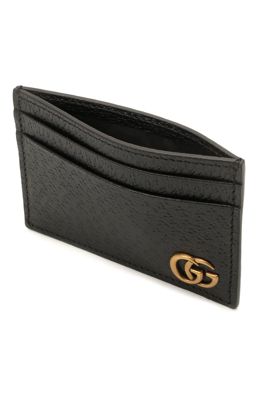 Мужской кожаный футляр для кредитных карт GUCCI черного цвета, арт. 436022/DJ20T | Фото 3