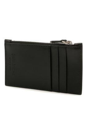 Мужской кожаный футляр для кредитных карт PALM ANGELS черного цвета, арт. PMNC016S21FAB0011001 | Фото 2