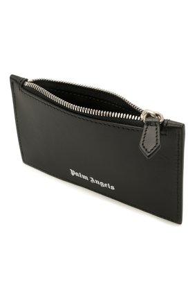 Мужской кожаный кошелек для монет PALM ANGELS черно-белого цвета, арт. PMNC016S21FAB0011001 | Фото 3