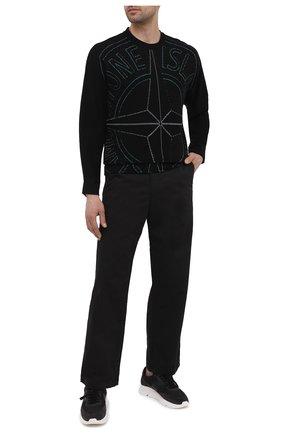 Мужские брюки из хлопка и шерсти STONE ISLAND SHADOW PROJECT черного цвета, арт. 741930108   Фото 2