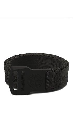 Мужской текстильный ремень STONE ISLAND черного цвета, арт. 741594263 | Фото 1
